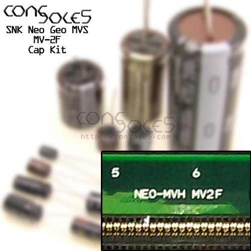 SNK Neo Geo MVS MV2F MV-2F Two Slot Cap Kit