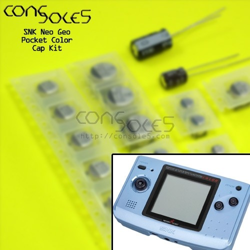 SNK Neo Geo Pocket Color SMD Cap Kit NGPC
