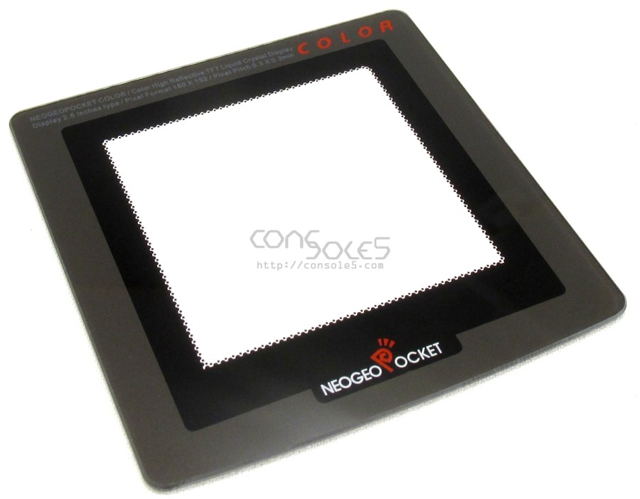"""GLASS Neo Geo Pocket Color 2.2"""" LCD Modded Screen Lens (Full Size NGPC)"""
