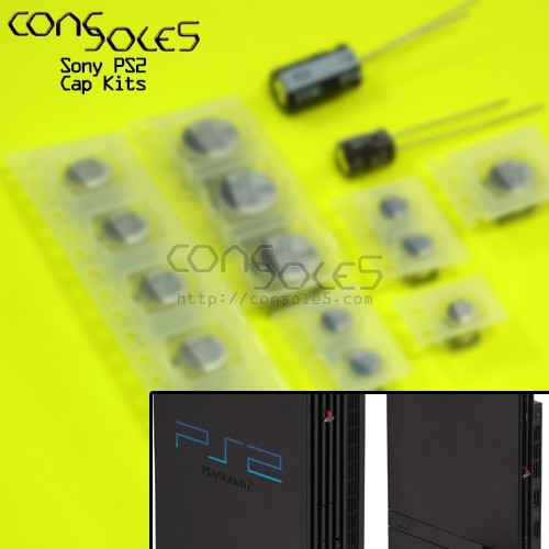 Sony PS2 Cap Kit - Original, Slim, Power Supply, and Accessory Kits