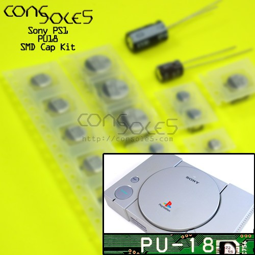 Sony Playstation PS1 SMD Cap Kit - Rev PU18 PU-18