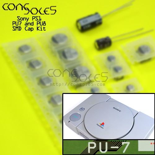 Sony Playstation PS1 SMD Cap Kit - Rev PU7, PU8