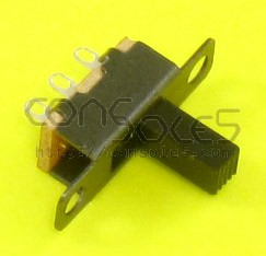 Small SPDT Slide Switch: 2 Position: ON-ON, Solder Eyelet Terminals