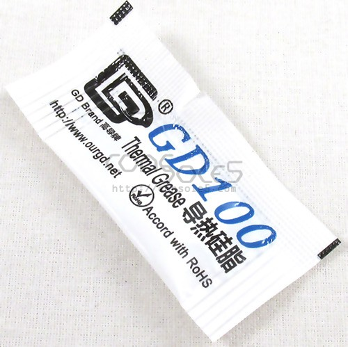 Packet of Thermal Heat Sink Grease Compound GD100 0.5g (White)