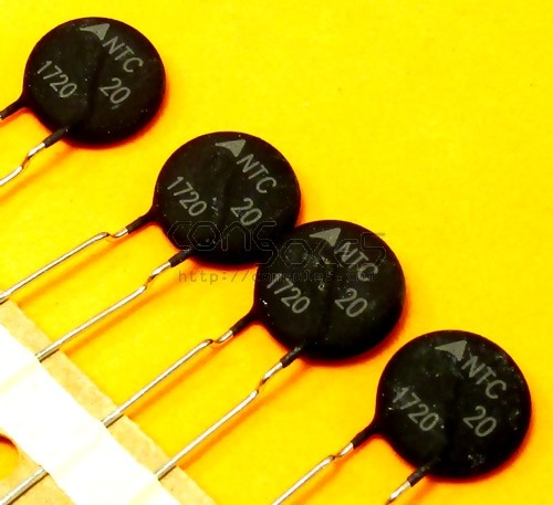 NTC Thermistor - NTC 20 - EPCOS / TDK Inrush Current Limiters 20 Ohms 2.8A