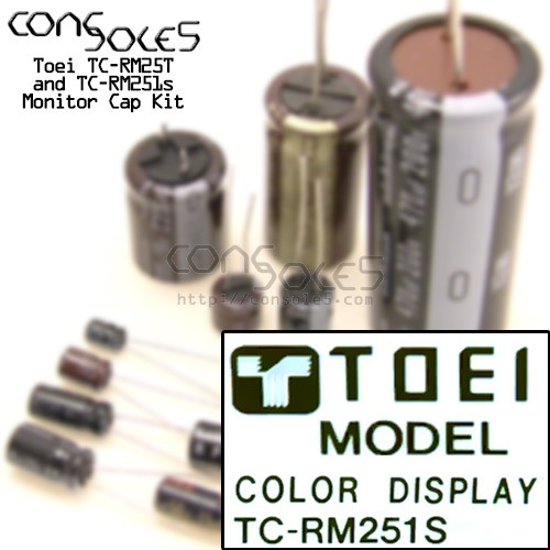 Toei TC-RM25T / TC-RM251s Arcade Monitor Cap Kit
