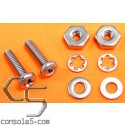 """Pair of #5 Screws, Nuts, and Washers - All Stainless, 1/8"""" Diameter"""