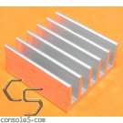 "1"" (25mm) Low Profile Square Heat Sink"
