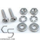 """Pair of #4 Screws, Nuts, and Washers - All Stainless, 7/64"""" Diameter"""