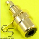 RCA Jacks: BLACK, Gold Plated, Panel mount, solder type