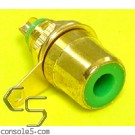 RCA Jacks: GREEN, Gold Plated, Panel mount, solder type (Alt)