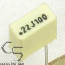 0.22uF 100volts Film Capacitors, 5% (Atari Chicklet Replacement)