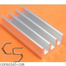 DIP24 Aluminum Heat Sink: Glue On / Thermal Epoxy Style DIP 24