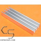 DIP40 Aluminum Heat Sink: Glue On / Thermal Epoxy On DIP 40