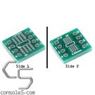 SOP8 / SSOP8 / TSSOP8 to DIP8 Footprint Adapter PCB