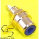 RCA Jacks: BLUE, Gold Plated, Panel mount, solder type