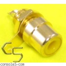 RCA Jacks: YELLOW, Gold Plated, Panel mount, solder type