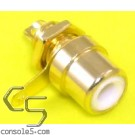 RCA Jacks: WHITE, Gold Plated, Panel mount, solder type