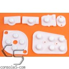 N64 Replacement Controller Silicone Rubber Carbon Dot Pads
