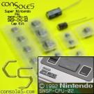 PAL Super Nintendo SNES SMD Cap Kit: SNSP-CPU-01, SNSP-CPU-02