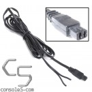 Atari 7800 Pigtail DC Cable and Plug for custom Power Supply - 5 foot / 1.5m