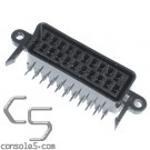 FEMALE SCART / JP21 Through Hole PCB Mount 21 Pin Connector, Right Angle