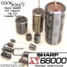 Sharp X68000 XVI Compact Cap Kit (Leaded Caps)