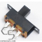 DPDT Slide Switch: 3 Position: ON-OFF-ON, Solder Eyelet Terminals