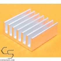 14mm Square Miniature Aluminum Heatsink / Glue On Heat Sink