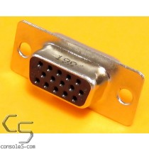 15 Position VGA / SVGA Jacks DE15, Gold Plated Contacts, Solder Cup, Female, Amphenol
