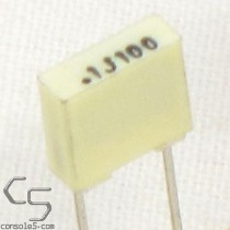 0.1uF 100volts Film Capacitors, 5% (Atari Chicklet Replacement)