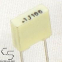 0.1uF 100volts Film Capacitors, 5% (Atari Chicklet Replacement)