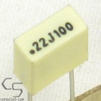 0.22uF 100volts Film Capacitors, 5% (Atari Chicklet Replacement)