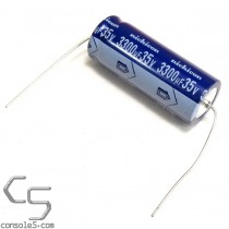 3300uF 35v Axial TVX Nichicon Electrolytic Capacitor, 2000 Hrs 85°C 3,300uF