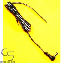 6' DC Plug Cord for Atari 5200, Intv II, TG16 CD Dock, Twin Famicom DC, 24 AWG, Right Angle