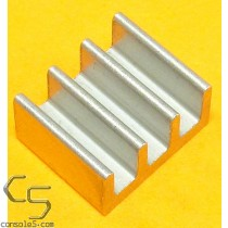 DIP14, DIP16, DIP18 Aluminum Heat Sink: Glue / Epoxy On (DIP 14 16 18) (Size revision note)