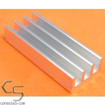 DIP28 Aluminum Heat Sink: Glue On / Thermal Epoxy Style DIP 28