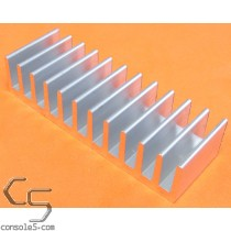 DIP40 Aluminum Tall Heat Sink: Glue On / Epoxy Style DIP 40
