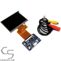 "Universal 3.5"" Composite Video LCD Module & RCA, 320x240, Compact PCB"
