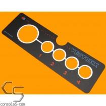 MB Vectrex Controller / Joystick Overlay Label Sticker Milton Bradley