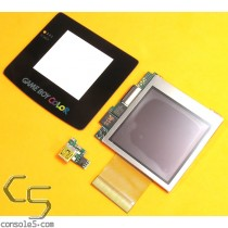 "Game Boy Color McWill 2.2"" LCD kit, VGA, USB Charge Board, Glass Lens, GBC v1.1"