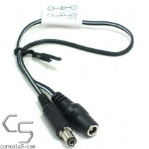 Turbo Duo power supply plug adapter cable - Convert Sega 1602 to Duo