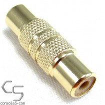 RCA Male to RCA Male Coupler Joiner Adapter, Gold Plated