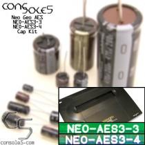 SNK Neo Geo AES - NEO-AES 3-3, 3-4 Cap Kit & Audio Fix Kit
