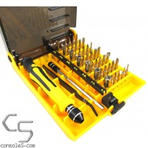 45 Piece Precision Security Screwdriver and Bit Set (torx, triwing, triangle, and more)