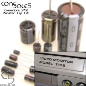 Commodore 1702 & 1702T Monitor Cap Kit (110v, NTSC)