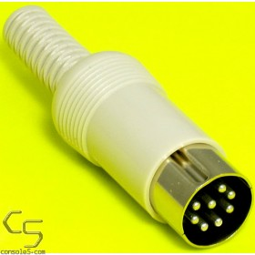 Premium DIN Connector Plug: 8 pin (C-style 270), Male, Solder-cup