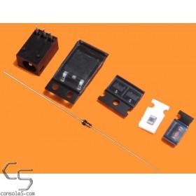 Atari Lynx 1 & 2 Voltage Regulator Rebuild / Refresh Tune-Up Kit with Power Jack