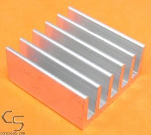 "1"" (25mm) Low Profile Square Aluminum Heat Sink"
