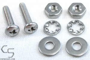"Pair of #4 Screws, Nuts, and Washers - All Stainless, 7/64"" Diameter"